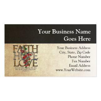Verso cristiano de la biblia del amor de la tarjetas de visita