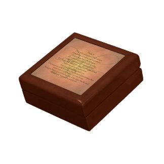Verso cristiano de la biblia del salmo 23 KJV Caja De Recuerdo