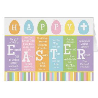 Verso cristiano feliz de la escritura de Pascua Tarjeta De Felicitación