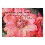Verso de Buda de la flor Felicitaciones