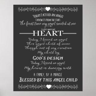 Verso de la adopción o cita de la adopción de la póster