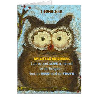 Verso de la biblia: 1 3:18 PedagogyGreetings de Tarjeta De Felicitación