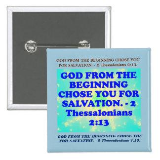 Verso de la biblia a partir de 2 2:13 de pin cuadrado