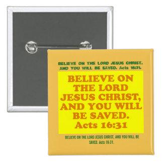 Verso de la biblia a partir del 16:31 de los pin cuadrado