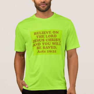 Verso de la biblia a partir del 16:31 de los camiseta