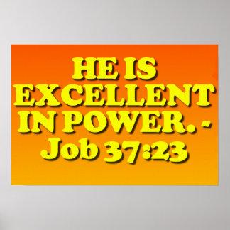 Verso de la biblia a partir del 37:23 del trabajo. posters