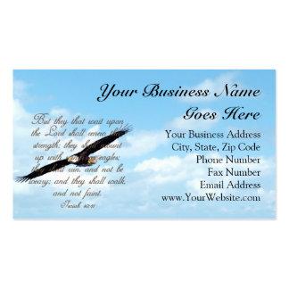 Verso de la biblia, alas como cristiano de Eagles Plantilla De Tarjeta De Negocio