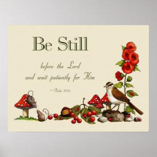 Verso de la biblia Arte de la naturaleza Salmos Poster