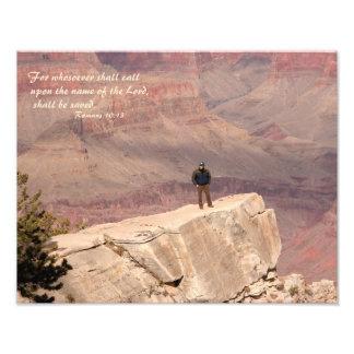 Verso de la biblia de la foto del Gran Cañón