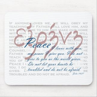Verso de la biblia de la paz en el cojín de ratón  alfombrilla de ratones