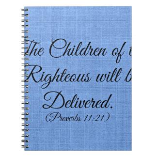 Verso de la biblia de los proverbios los niños del libreta