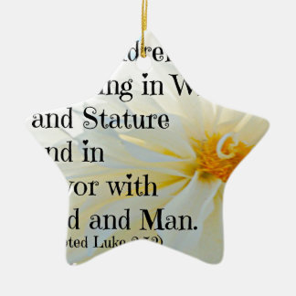 Verso de la biblia de Lucas que mis niños están Adorno Navideño De Cerámica En Forma De Estrella