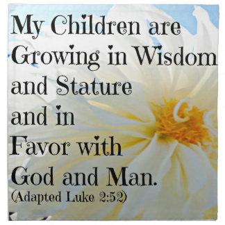 Verso de la biblia de Lucas que mis niños están cr Servilletas