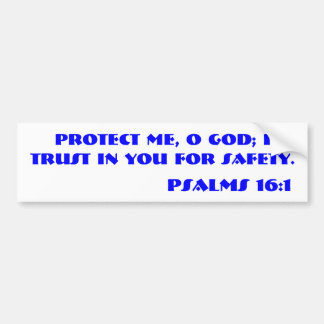 Verso de la biblia del 16:1 de los SALMOS Pegatina Para Auto