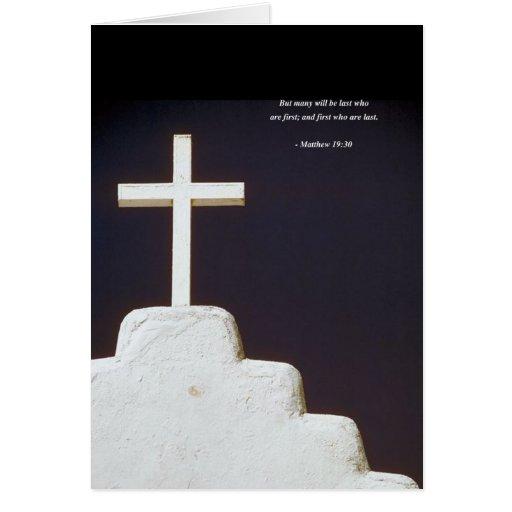 Verso de la biblia del 19:30 de MATTHEW Tarjeta De Felicitación