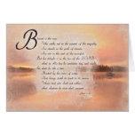 Verso de la biblia del 1:1 de los salmos inspirado tarjeta