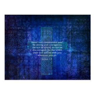 Verso de la biblia del 1:9 de Joshua sobre fuerza Postal
