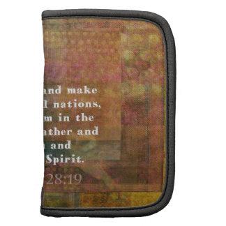 Verso de la biblia del 28 19 de Matthew Organizador