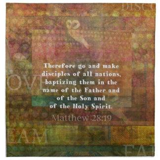 Verso de la biblia del 28:19 de Matthew Servilletas De Papel