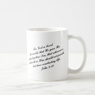 Verso de la biblia del 3:16 de Juan (KJV) Taza De Café