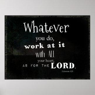 Verso de la biblia del 3:23 de Colossians, arte de