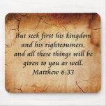 Verso de la biblia del 6:33 de Matthew Alfombrilla De Ratón