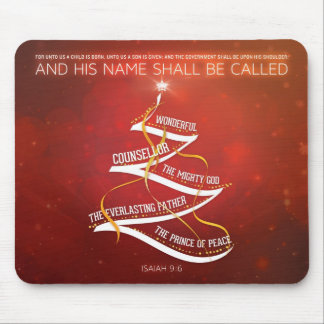 Verso de la biblia del 9:6 del navidad Mousepad -  Alfombrilla De Ratón