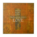 Verso de la biblia del amor de la esperanza de la  azulejo
