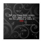 Verso de la biblia del amor, negro/rojo azulejos cerámicos