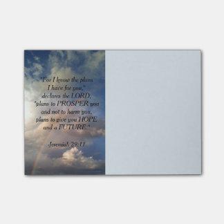 Verso de la biblia del arco iris del 29:11 de post-it® notas
