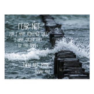 Verso de la biblia del miedo no tarjeta postal