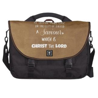 Verso de la biblia del navidad bolsa de ordenador