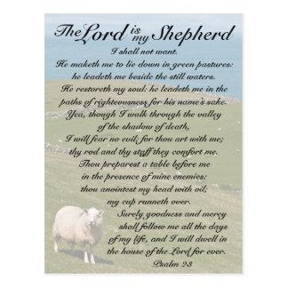 Verso de la biblia del salmo 23, postal irlandesa