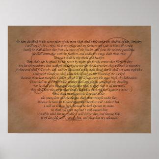 Verso de la biblia del salmo 91 impresiones
