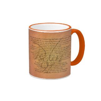 Verso de la biblia del salmo 91 tazas de café