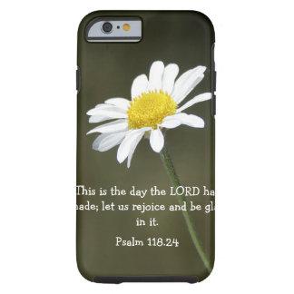 Verso de la biblia del salmo y caso del iPhone 6 Funda De iPhone 6 Tough