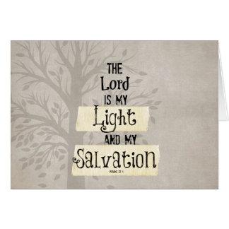 Verso de la biblia: El señor es mi luz y mi Tarjeta Pequeña