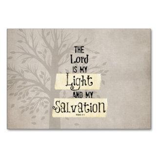 Verso de la biblia: El señor es mi luz y mi