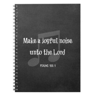 Verso de la biblia: Haga un ruido alegre Cuaderno