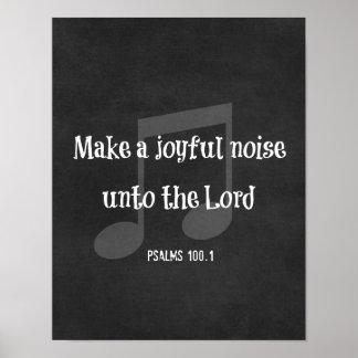 Verso de la biblia: Haga un ruido alegre Póster