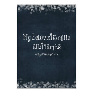 """Verso de la biblia: Mi querido es el mío y soy el Invitación 3.5"""" X 5"""""""