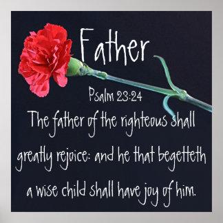 verso de la biblia para el 23:24 del salmo del día posters