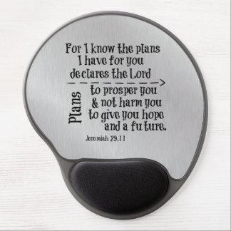 Verso de la biblia: Para mí sé los planes que Alfombrilla De Ratón Con Gel