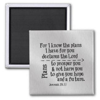 Verso de la biblia: Para mí sé los planes que Imán Cuadrado