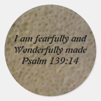 Verso de la biblia etiqueta redonda