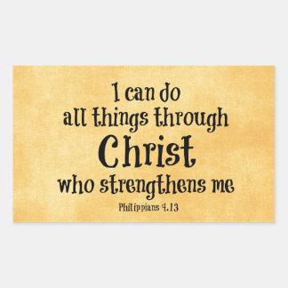 Verso de la biblia Puedo hacer todas las cosas a Rectangular Altavoces