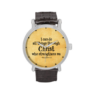 Verso de la biblia: Puedo hacer todas las cosas a Reloj