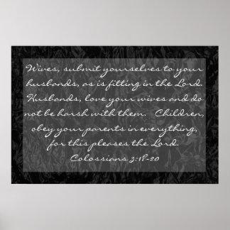 verso de la biblia sobre el 3:18 de Colossians de  Póster