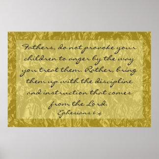 verso de la biblia sobre el aumento del 6:4 de Eph Póster