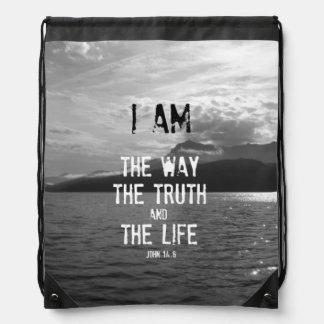 Verso de la biblia: Soy la manera, verdad, vida Mochilas